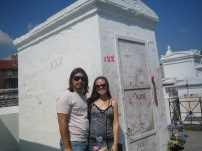 Supposedly , this is where the Voodoo Queen Marie Lavaeu is buried. St. Louis Cemetery # 1