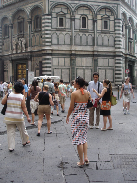 Walking around Florence thinking about getting more pizza.