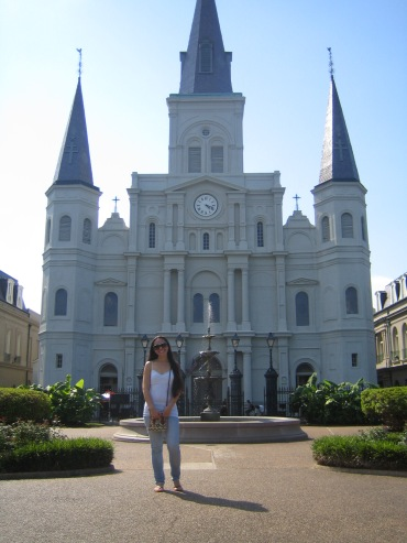 One of the oldest Cathedrals in the United States. St. Louis Cathedral in the middle of Jackson Square.