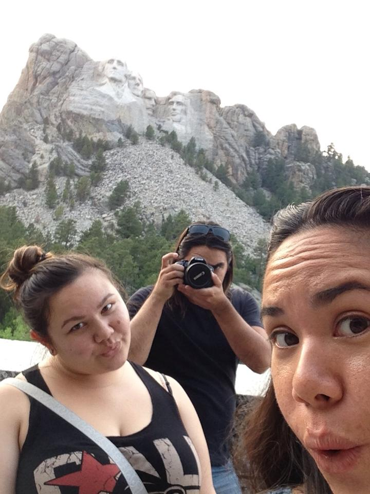 Selfies with Los Presidentes. Tim you left the lens cap on, good job.