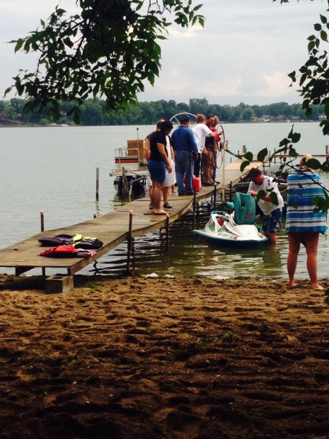 Family getting the lake toys ready!