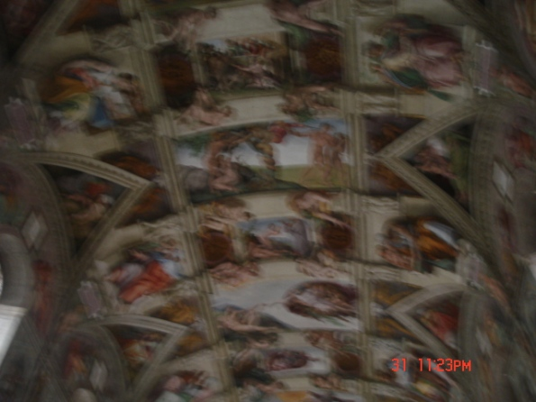 Best picture I could get of the Sistine Chapel. This is soooo illegal...