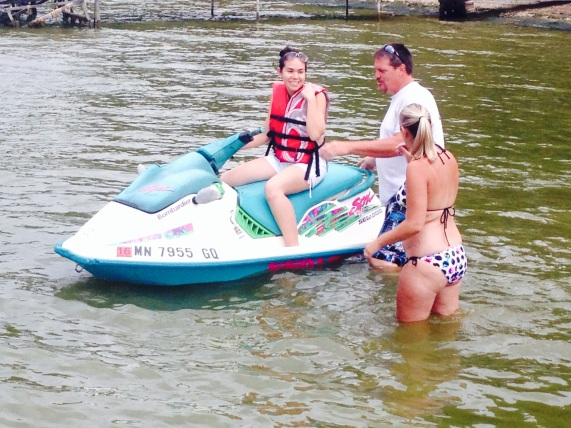 First time on a jet ski!