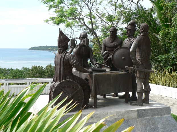 Sandugo Monument in Bohol.