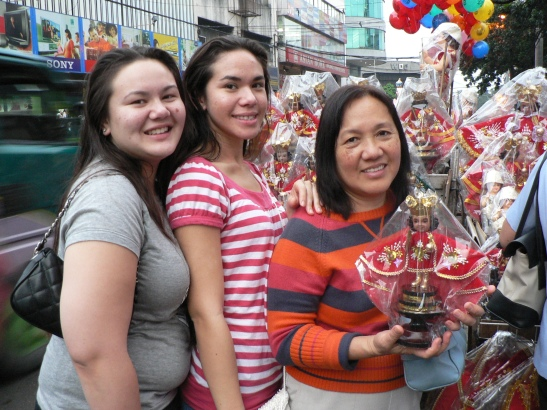 Getting our own Santo Nino to take home!