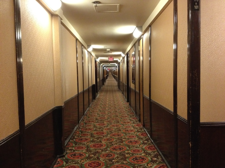 Passageway to the First Class accommodations.