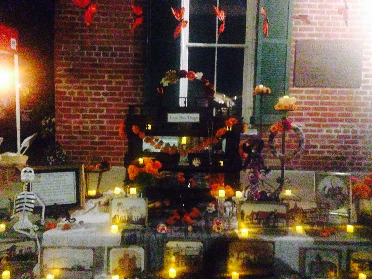 """Alter dedicated to """"Lost San Diego"""" displayed in front of the Whaley House."""