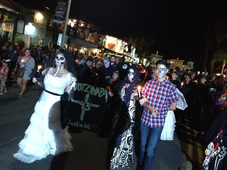 The beginning of the procession.