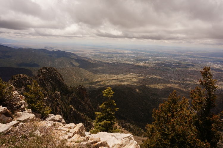 View from Sandia Tram way