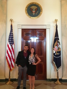 Me and Josh right after meeting the First Lady!